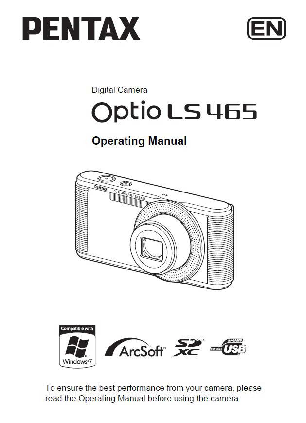 宾得Optio LS465数码相机说明书