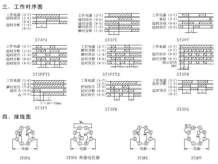 欣灵hhs5f(st3pf)电子式时间继电器说明书