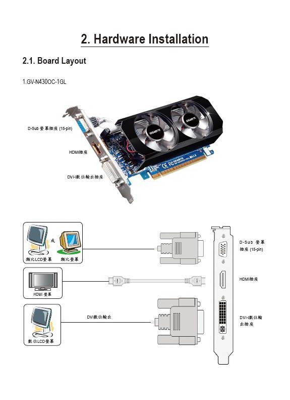 技嘉GV-N430-2GI显卡用户手册