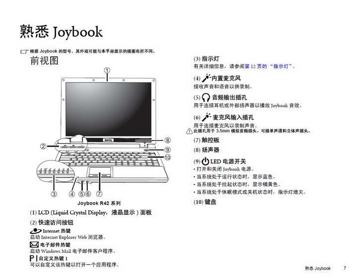 明基Joybook R42笔记本使用说明书
