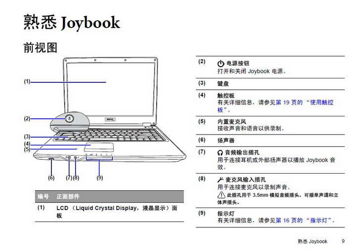 明基Joybook R43E笔记本使用说明书