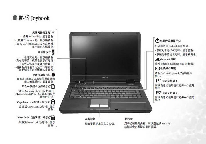 明基Joybook R53G笔记本使用说明书