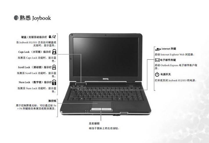 明基Joybook S53E笔记本使用说明书