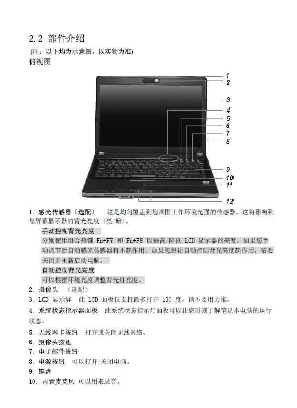 方正T370N笔记本电脑使用说明书