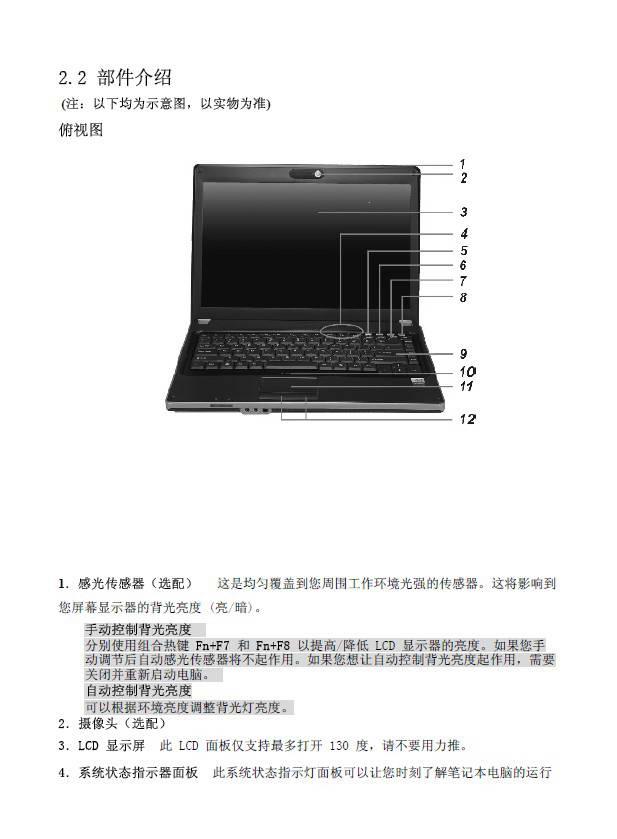 方正R350笔记本电脑简使用说明书