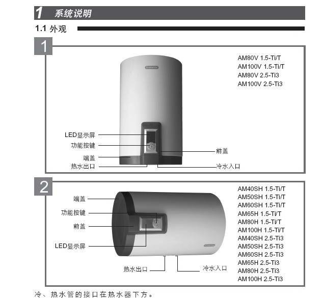 阿里斯顿AM100V 2.5-Ti3电热水器使用说明书