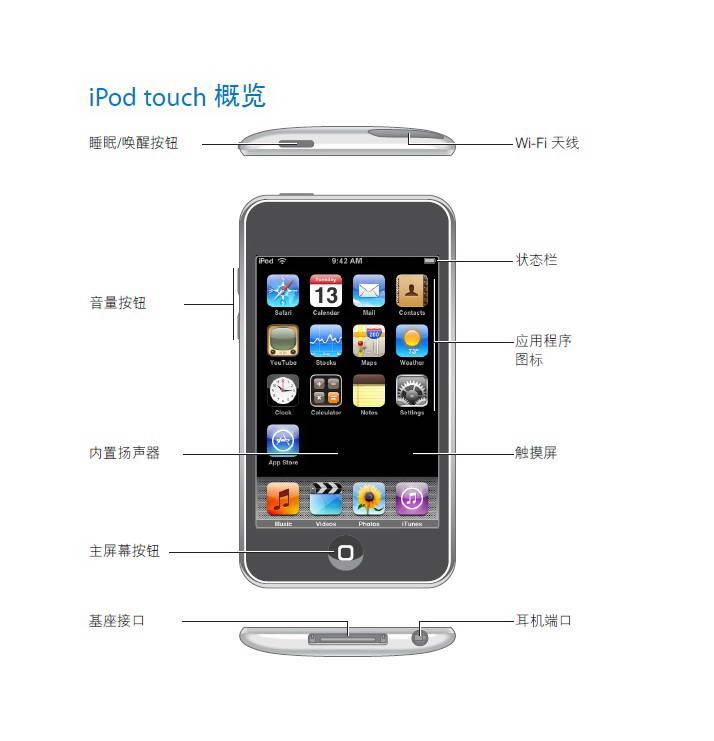 Apple苹果 iPod touch (iOS 2.1) 使用说明书