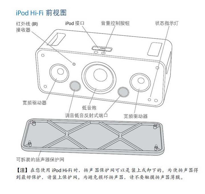 Apple苹果 iPod Hi-Fi 音箱使用手册