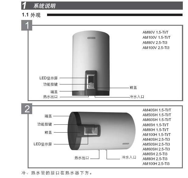 阿里斯顿AM80H 2.5-Ti3电热水器使用说明书