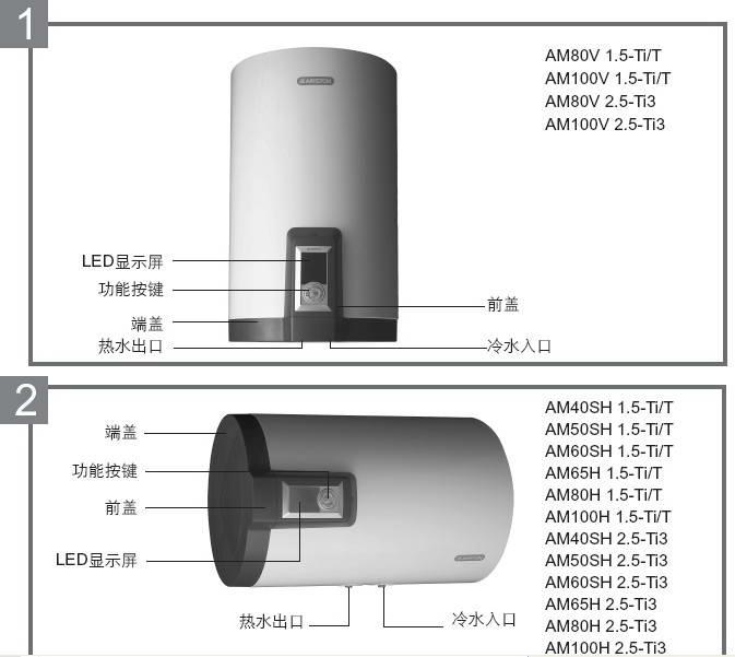 阿里斯顿AM50SH 1.5-Ti/T电热水器使用说明书