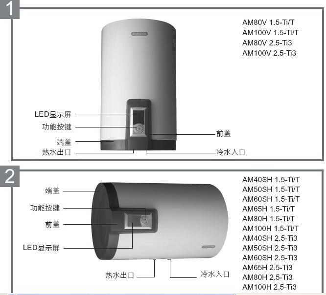 阿里斯顿AM80H2.5 Fi3电热水器使用说明书