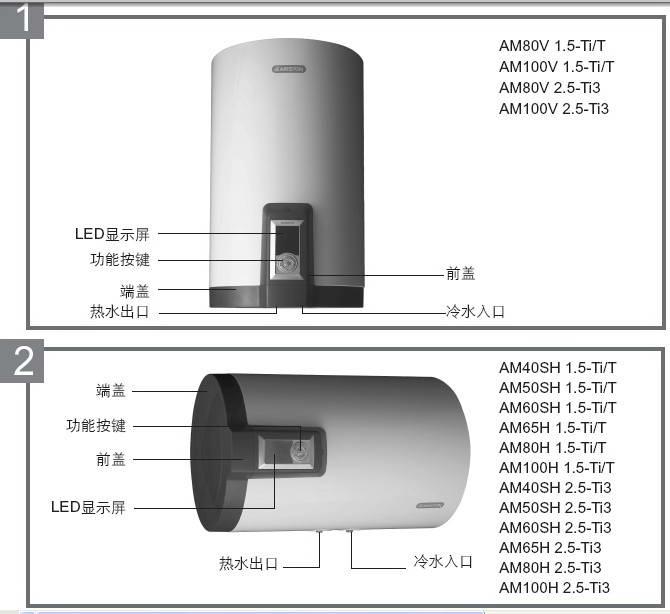 阿里斯顿AM65H2.5 Fi3电热水器使用说明书
