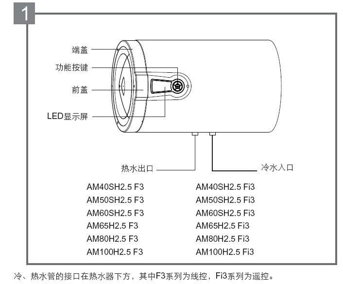 阿里斯顿AM40SH2.5 F3电热水器使用说明书