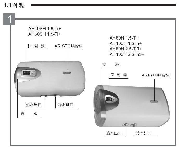 阿里斯顿AH50SH 1.5-Ti+电热水器使用说明书