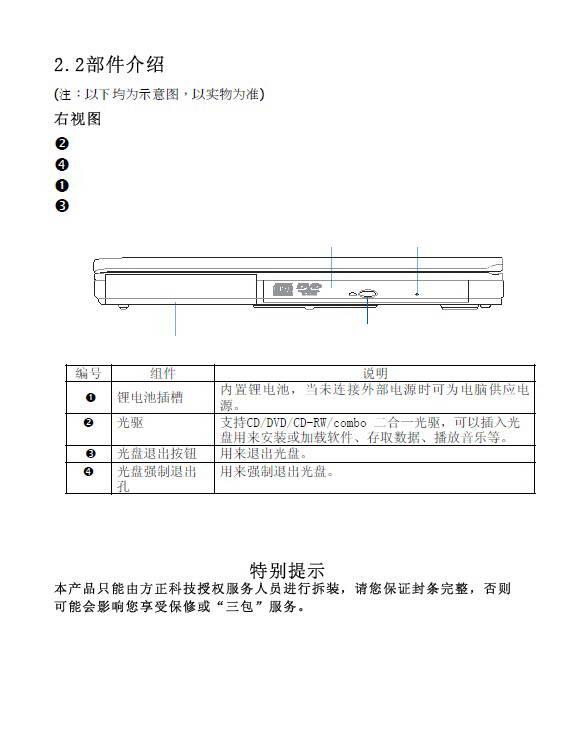 方正颐和E3600笔记本电脑使用说明书