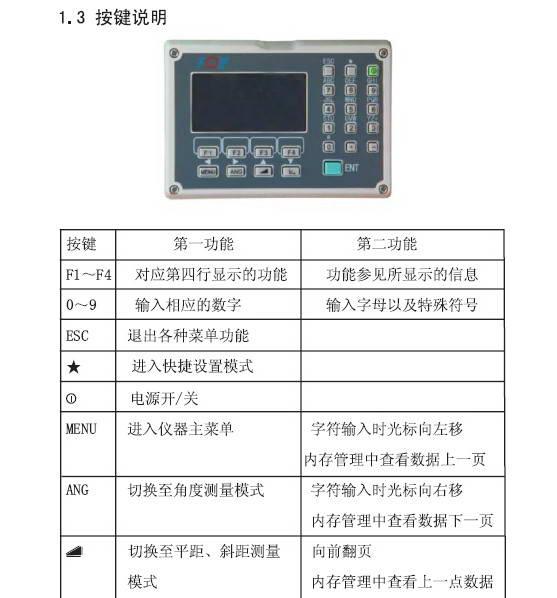苏州一光RTS112R全站仪使用说明书