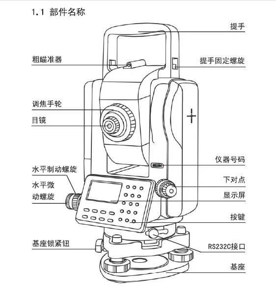 苏州一光rts630d全站仪使用说明书