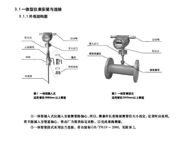 美伦HGF-3001F防爆管段式热式气体质量流量计说明书
