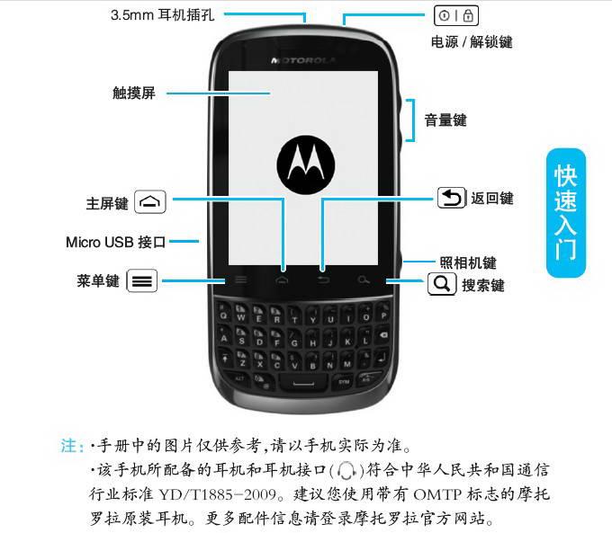 摩托罗拉XT317手机使用说明书
