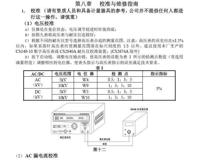 长盛CS2670AX交直流耐压测试仪说明书