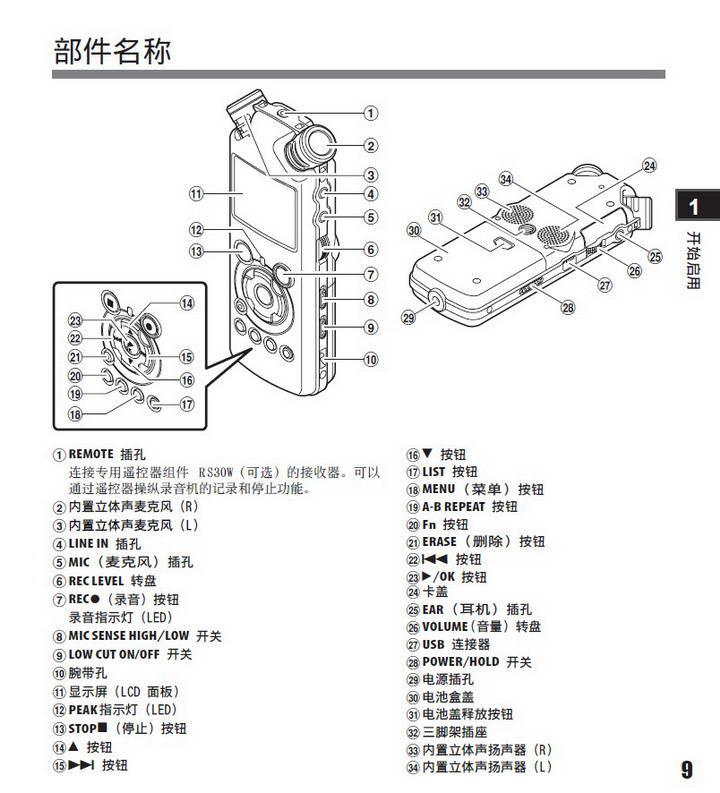 奥林巴斯录音笔LS-11型使用说明书