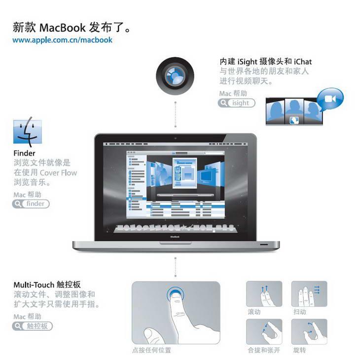 Apple苹果MacBook (13 英寸 铝壳 2008 年末机型)使用手册