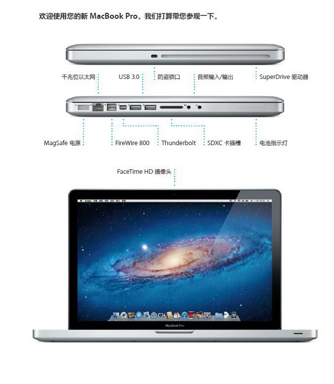 Apple苹果MacBook Pro (15 英寸 2012 年中)快速入门指南