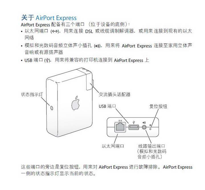 Apple苹果AirPort Express (2008年初)设置指南