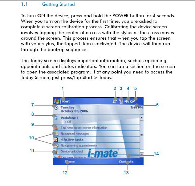 i-mate JAQ3手机说明书