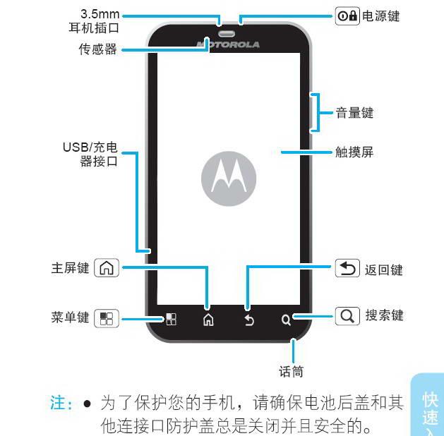 摩托罗拉 ME525+手机说明书