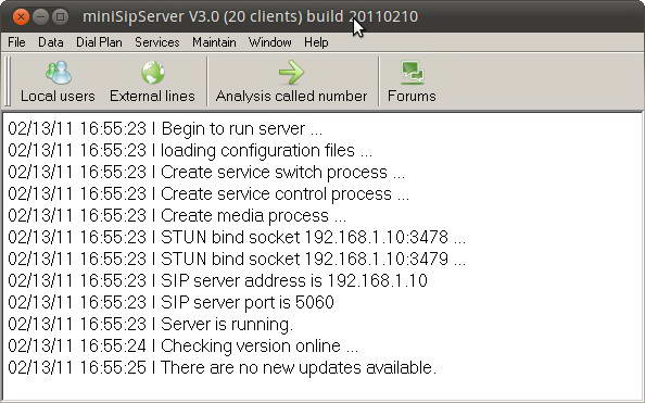 mini SIP Server Stable For Linux(500 clients)