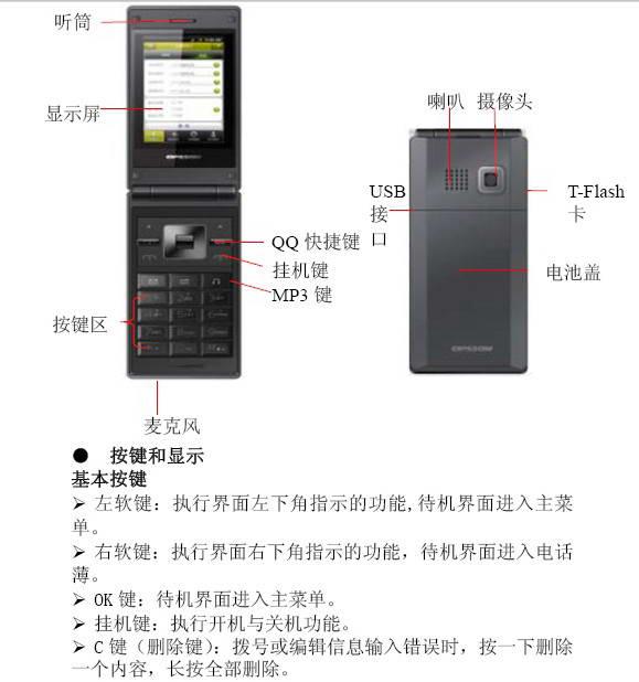 欧博信OPSSON U68手机使用说明书