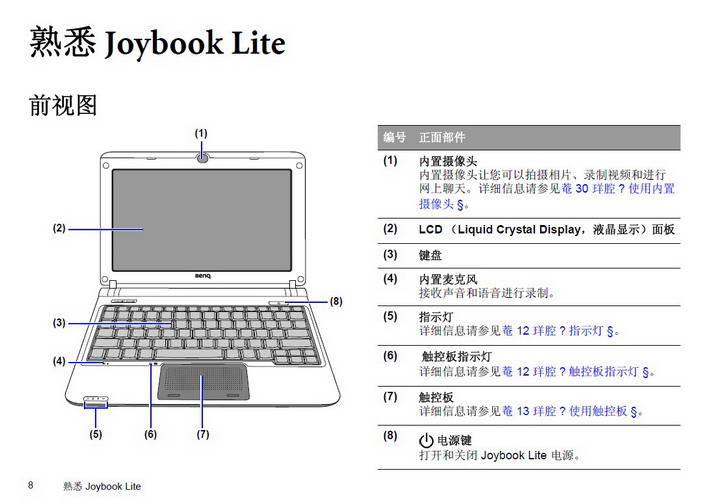 明基U107笔记本电脑使用说明书