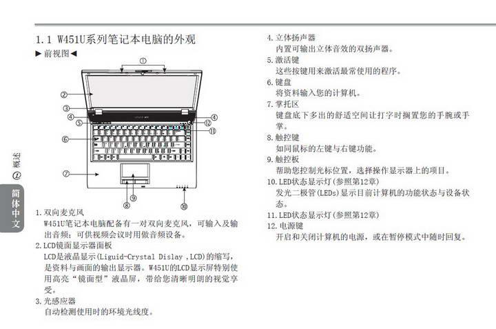 技嘉W511U笔记本电脑使用说明书