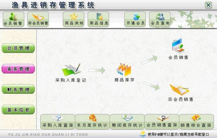 宏达渔具进销存管理系统 绿色版