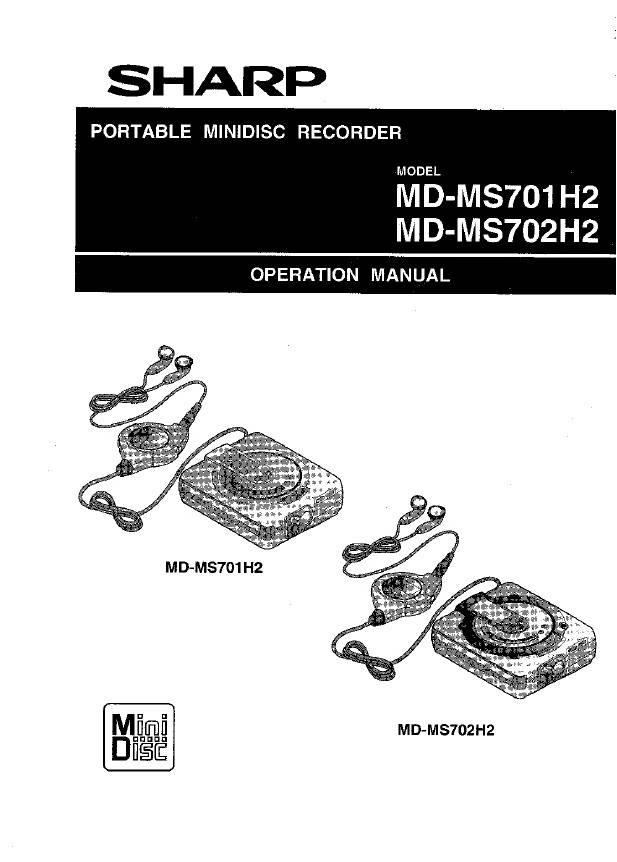 夏普MD-MS702H数码影音使用说明书