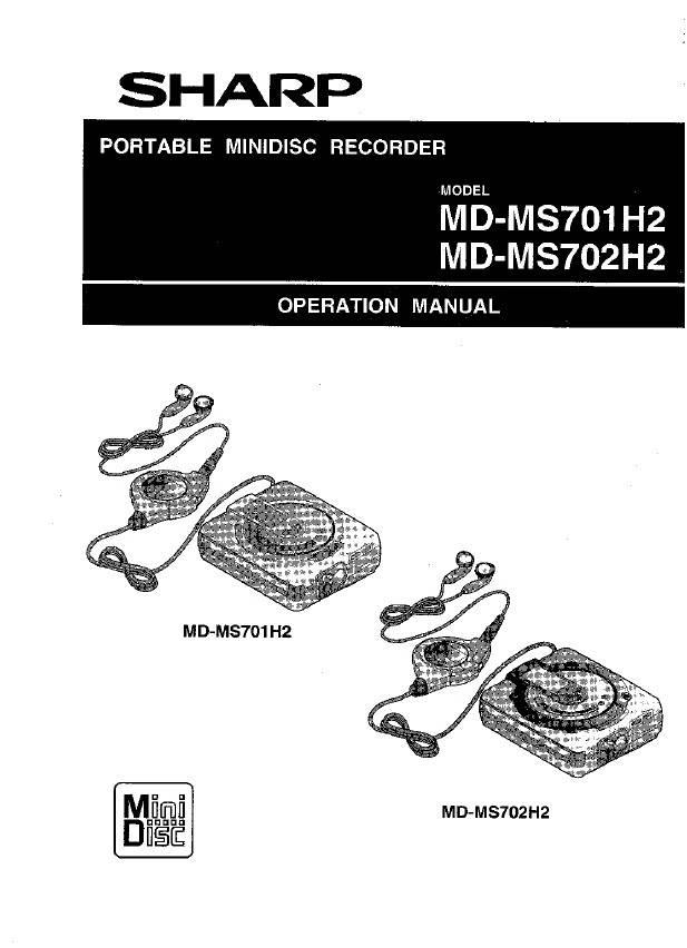 夏普MD-MS701H数码影音使用说明书