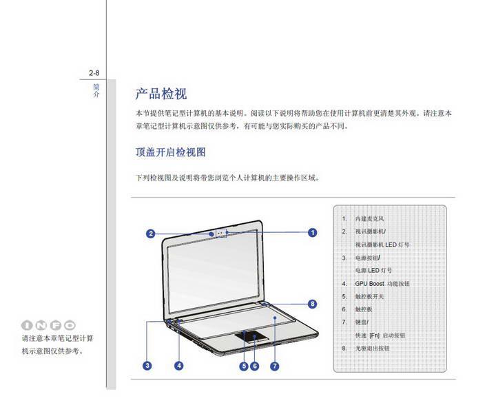 微星MSI X620笔记本电脑使用说明书
