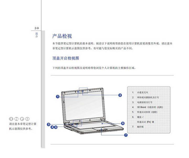 微星MSI CX420MX笔记本电脑使用说明书