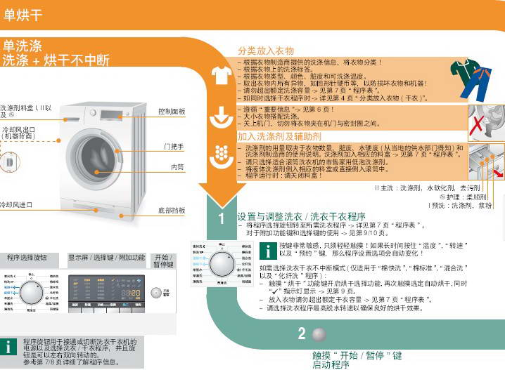 西门子XQG70-14H468洗衣机使用说明书