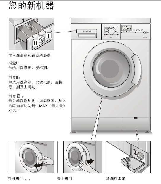 西门子xqg52-6125洗衣机使用说明书官方下载|西门子