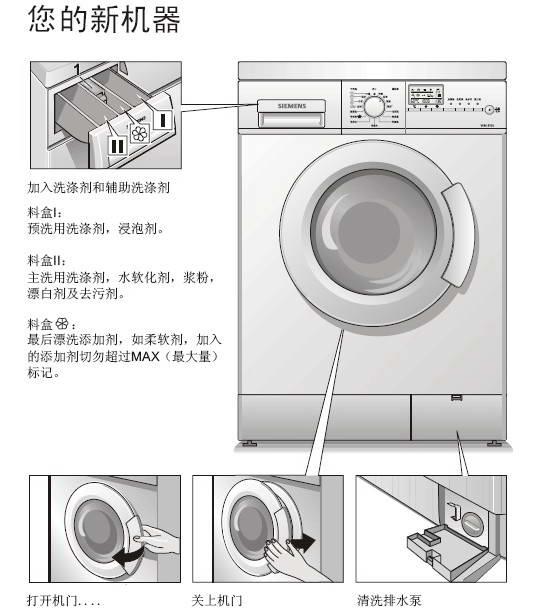西门子xqg52-6105洗衣机使用说明书