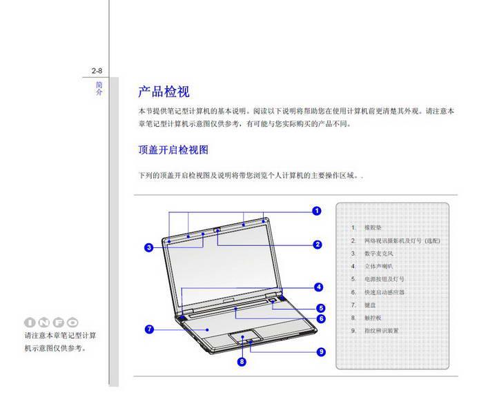 微星MSI EX620笔记本电脑使用说明书