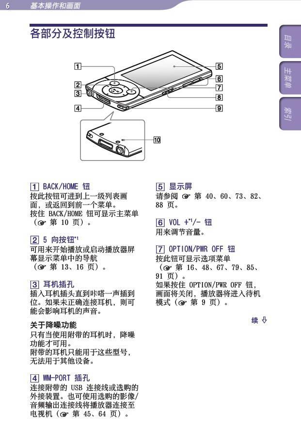 索尼NWZ-A845随身听说明书