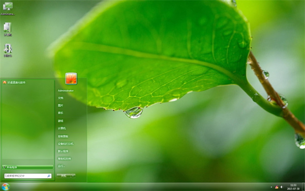 绿色植物的露珠主题