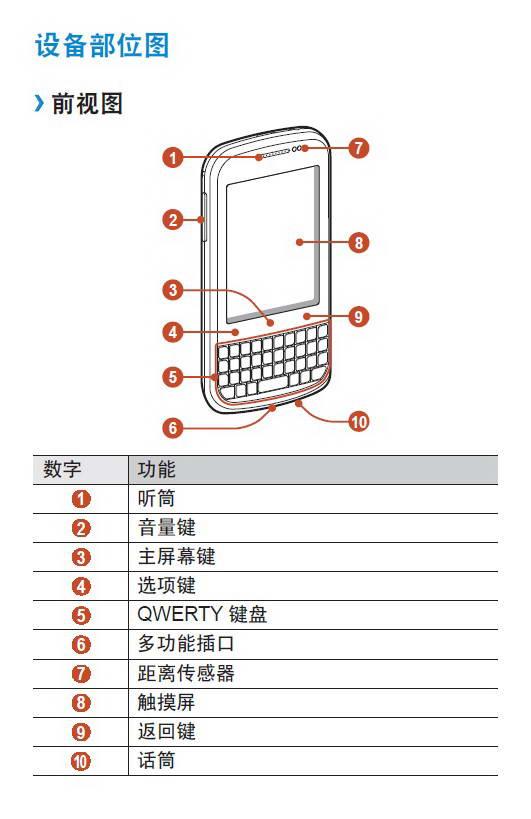 三星GT-B5330手机说明书
