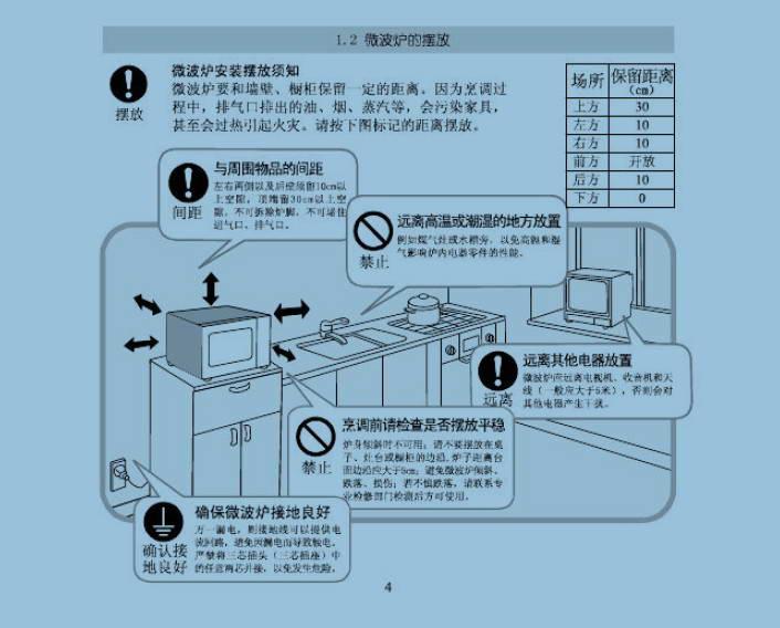 美的EM720KG1-PW微波炉使用说明书