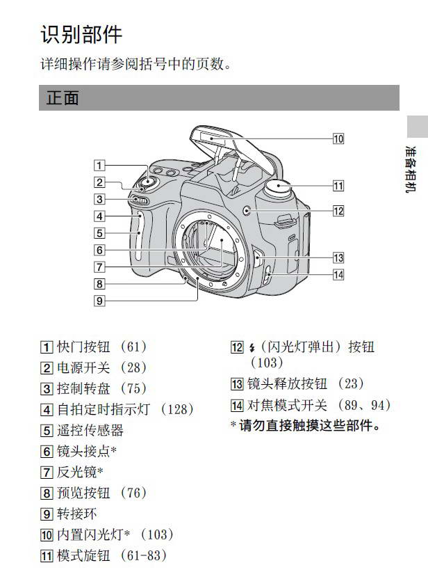 SONY索尼a580(DSLR-A580)数码相机说明书
