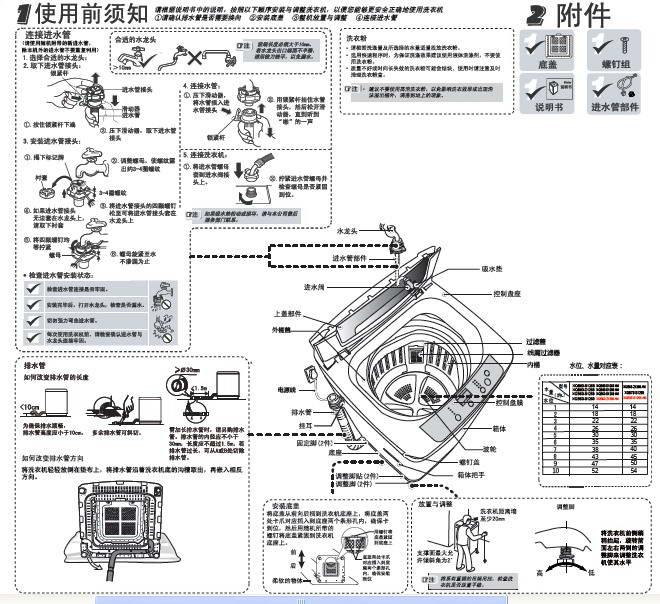 海尔xqb60-z1268am洗衣机使用说明书