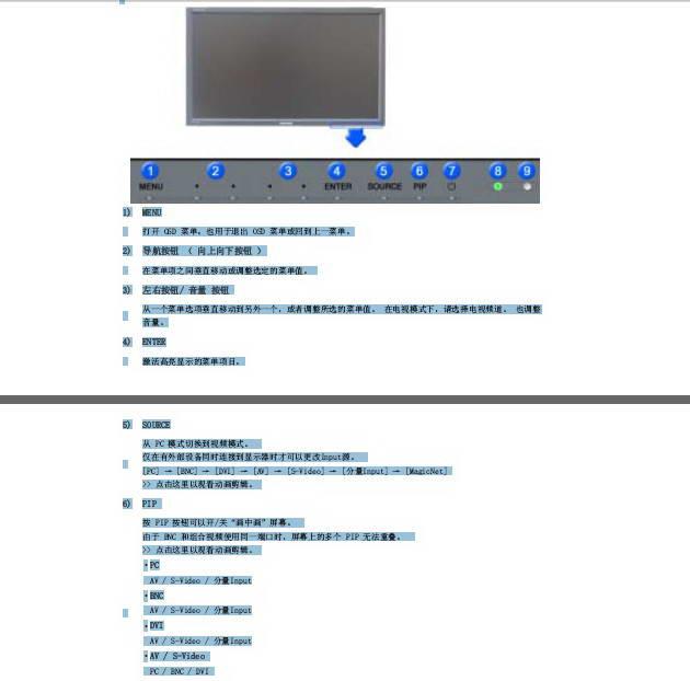 三星400PX液晶显示器使用说明书